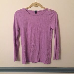 J Crew long sleeved t shirt with button detailing